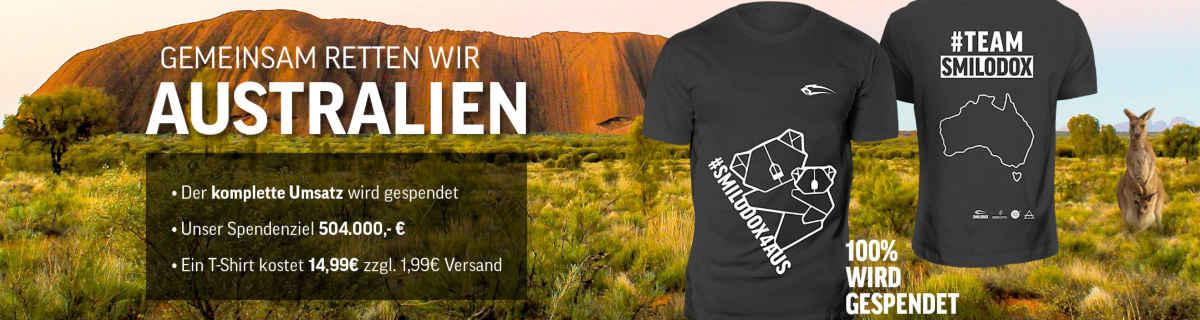 Smilodox Spende T-Shirt für Australien